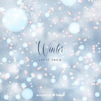 Bokeh de inverno luzes de fundo