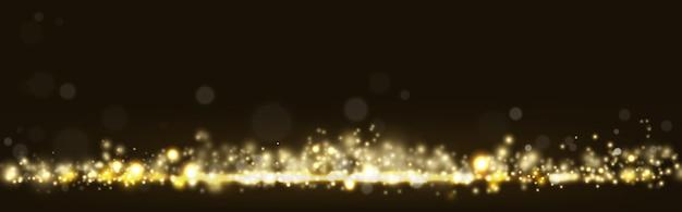 Bokeh de luz brilhante dourado brilhando