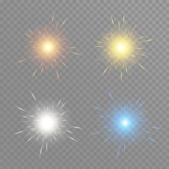 Bokeh de partículas de brilho dourado. efeito de brilho. explosão com brilhos.brilhos e estrelas cintilantes douradas.