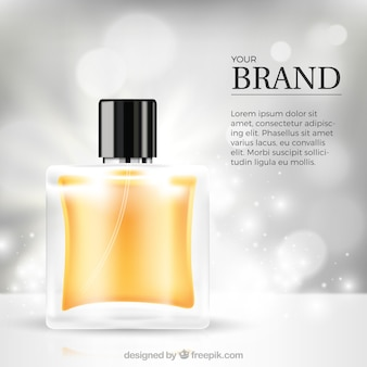 Bokeh defocused de fundo com perfume