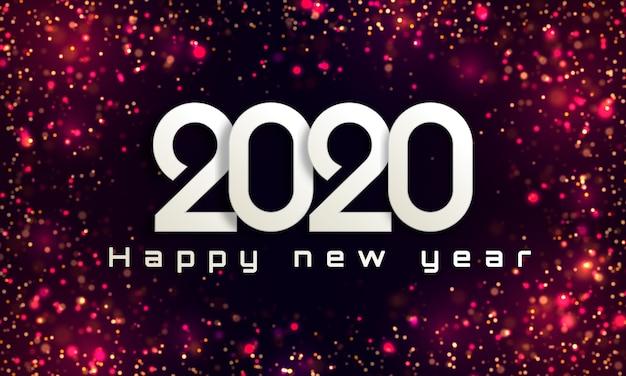 Bokeh ilumina o fundo de natal 2020