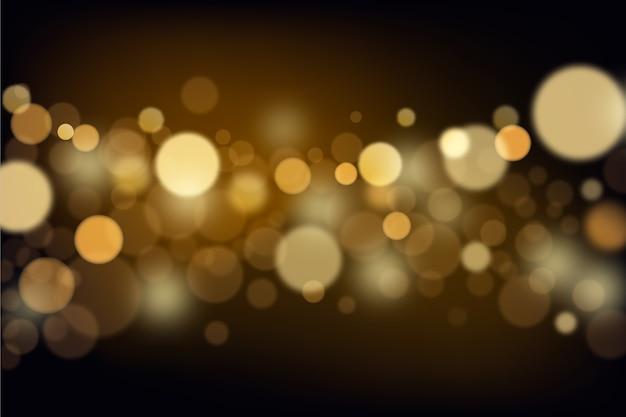 Bokeh ilumina o fundo em gradiente