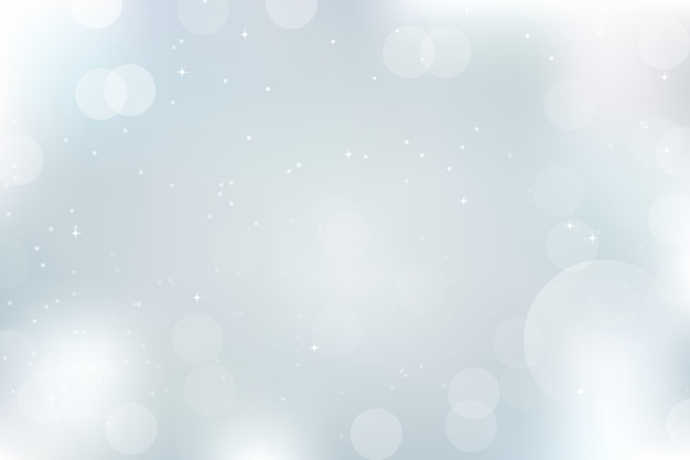 Bokeh luzes desfocadas e neve