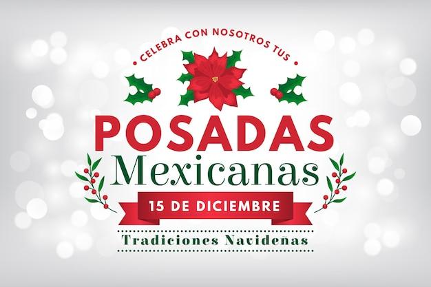 Bokeh posadas mexicanas fundo