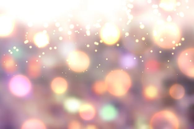 Bokeh realístico com luzes de fundo
