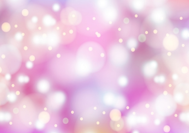 Bokeh rosa pastel e fundo roxo