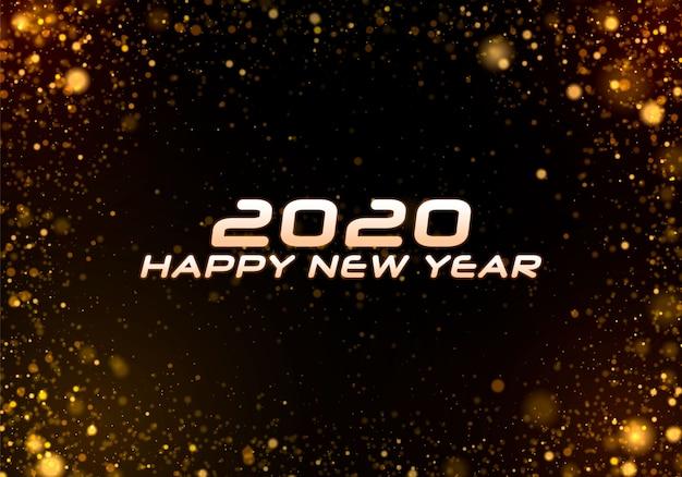 Bokeh sparkle fundo de natal 2020, luzes de ano novo.