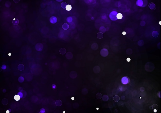 Bokeh turva luz sobre fundo tarnsparent preto escuro. e modelo de feriados de ano novo. resumo brilho defocused piscando estrelas e faíscas.