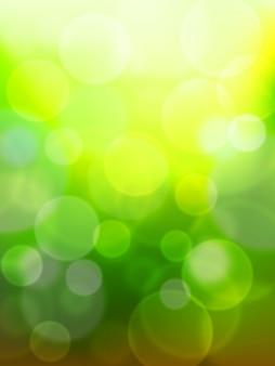 Bokeh verde abstrato