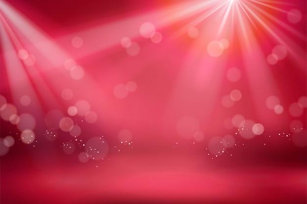 Bokeh vermelho abstrato com fundo brilhante