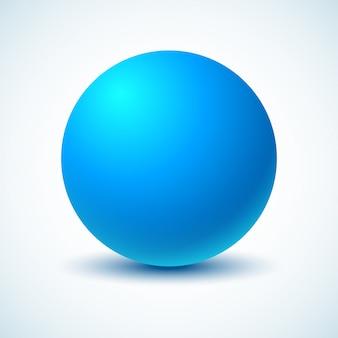Bola azul. ilustração.
