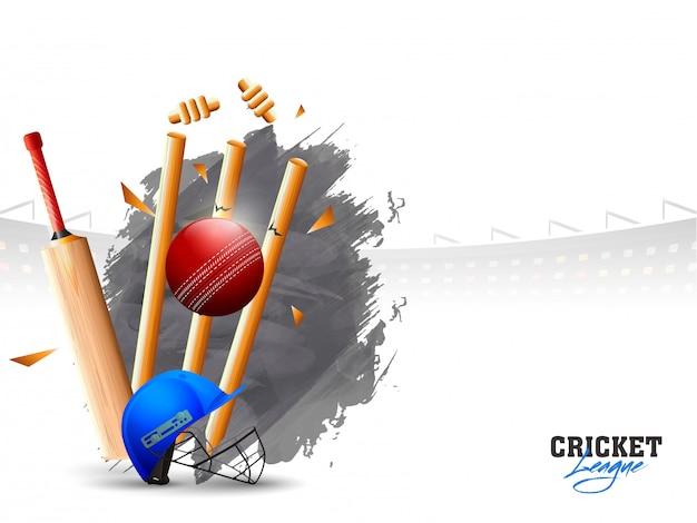 Bola, bater, a, wicket, tocos