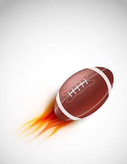Bola com fogo em fundo cinza. ilustração abstrata.