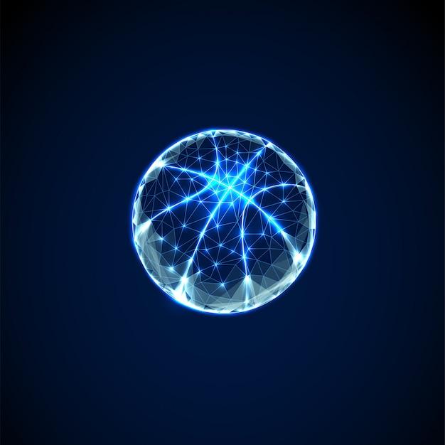 Bola de basquete abstrata