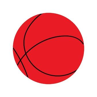 Bola de basquete em uma ilustração vetorial de fundo branco