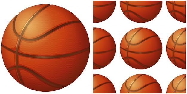Bola de basquete isolada no branco