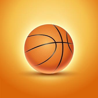 Bola de basquete isolado fundo laranja ícone. projeto de ilustração de equipe de bola de basquete
