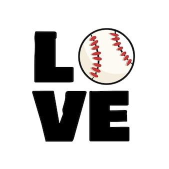 Bola de beisebol e tipografia