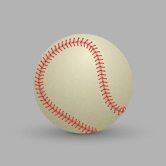 Bola de beisebol realista isolada no fundo branco.