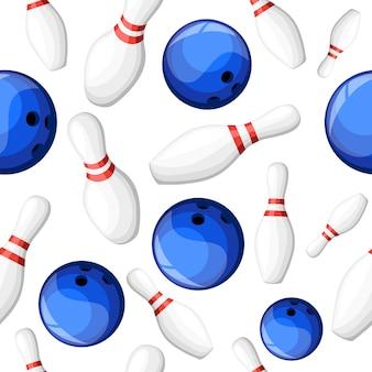 Bola de boliche batendo na ilustração dos pinos. página do site e elemento de aplicativo móvel.