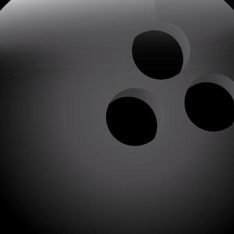 Bola de boliche sobre ilustração vetorial de fundo preto