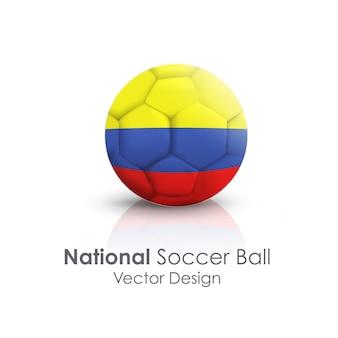 Bola de couro esportiva redonda branca