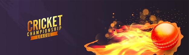 Bola de críquete de fogo realista