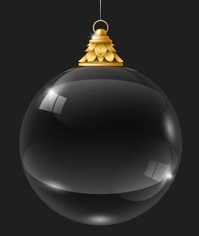Bola de cristal de guirlanda de vidro transparente Vetor Premium