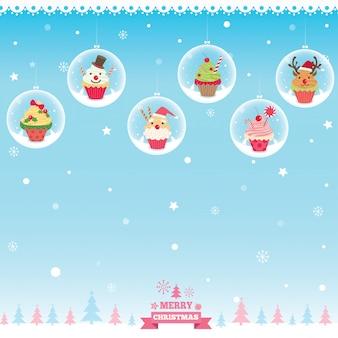 Bola de cupcake de natal