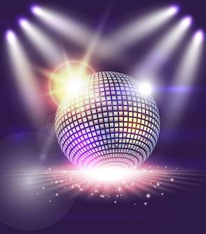 Bola de discoteca com luzes abstratas