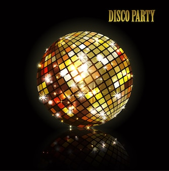 Bola de discoteca dourada.