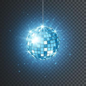 Bola de discoteca ou espelho com raios brilhantes