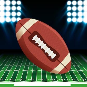 Bola de esporte de futebol americano