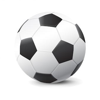 Bola de futebol 3d realista