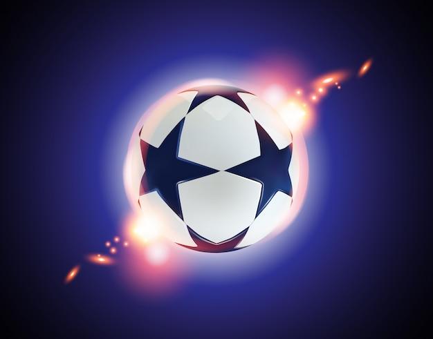 Bola de futebol 3d