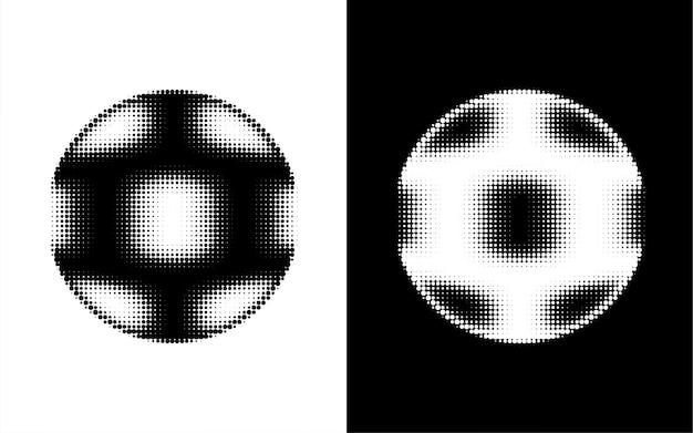 Bola de futebol abstrata em forma de ponto