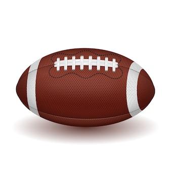 Bola de futebol americano. ícone realista. isolado em fundo branco