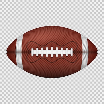 Bola de futebol americano. ícone realista.