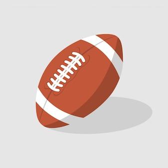 Bola de futebol americano plana isolada