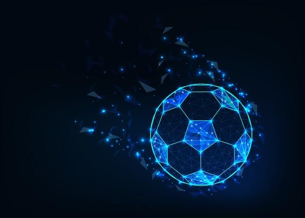 Bola de futebol baixo poli