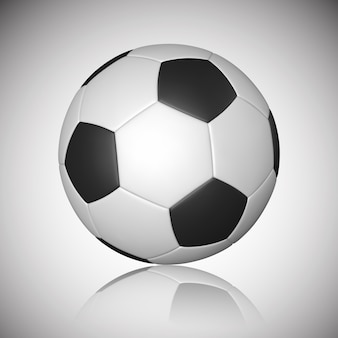 Bola de futebol, bola de futebol, com reflexão