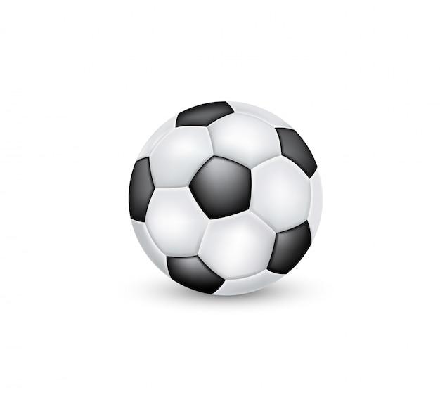 Bola de futebol clássico preto e branco.