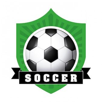 Bola de futebol com fita