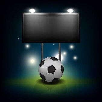 Bola de futebol com placar em branco