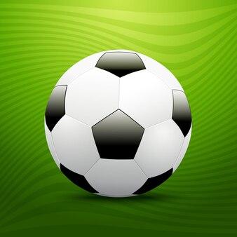 Bola de futebol de futebol sobre fundo verde. ilustração vetorial
