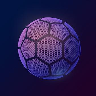 Bola de futebol de imagem feita de formas poligonais