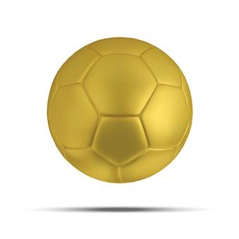 Bola de futebol de ouro branco