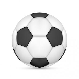 Bola de futebol em couro branco e preto