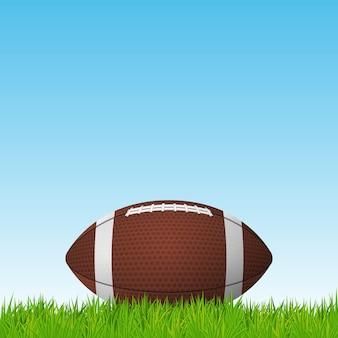 Bola de futebol em um campo de grama.