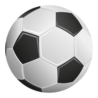 Bola de futebol isolada no fundo branco.